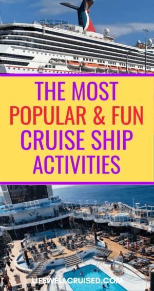 Popular and Fun Cruise Ship Activities