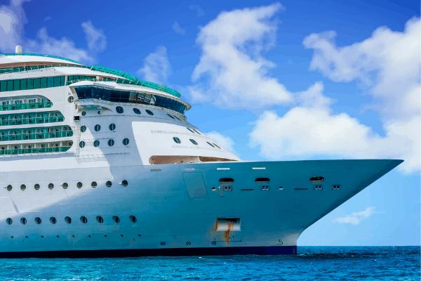 Cruise ship bow forward