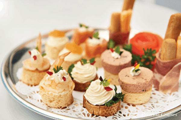 Princess Cruises Club Class appetizers