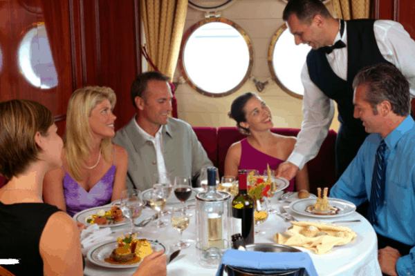 Cruise ship waiters dining room